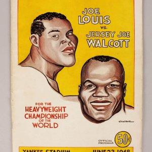 1948 JOE LOUIS VS JERSEY JOE WALCOTT BOXING PROGRAM