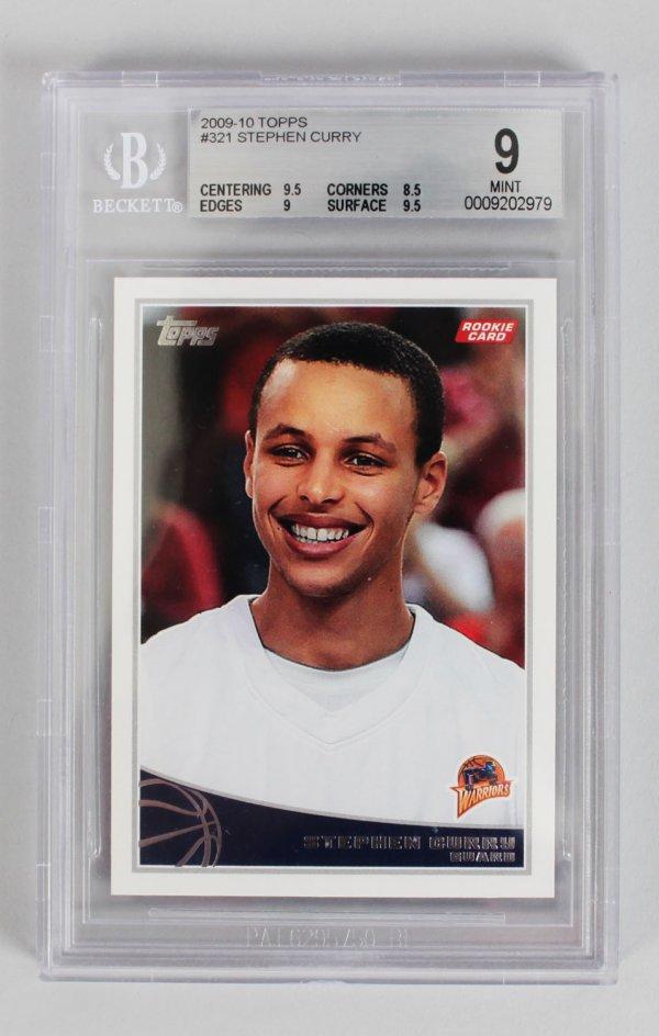 2009-10 Topps - Warriors Stephen Curry Rookie Card (#321) Beckett Graded 9 MINT