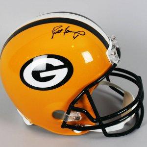 Green Bay Packers - Brett Farve Signed Full Size Helmet - Player Holo