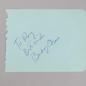 The Beverly Hillbillies - Buddy Ebsen Signed & Inscribed Vintage Cut - COA JSA