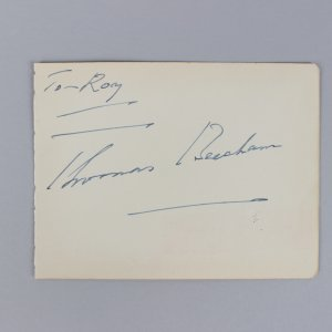 English Conductor - Thomas Beecham Signed 4x6 Vintage Cut - COA JSA