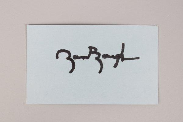 Washington Redskins -HOF'er- Sammy Baugh Signed 3x5 Index Card - COA JSA