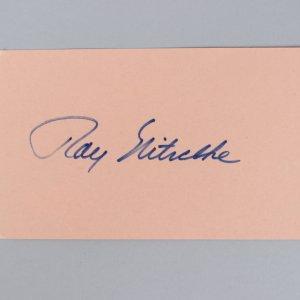 Green Bay Packers -HOF'er- Ray Nitschke Signed 3x5 Index Card - COA JSA