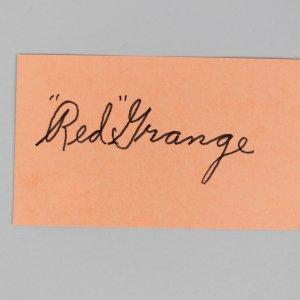 Chicago Bears -HOF'er- Red Grange Signed 3x5 Index Card - COA JSA