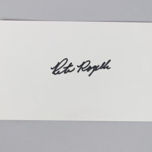 NFL Commissioner - Pete Rozelle Signed 3x5 Index Card - COA JSA