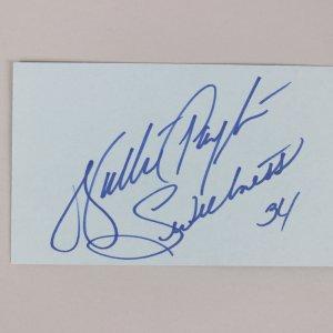 Chicago Bears- Walter Payton Signed & Inscribed 3x5 Index Card - COA JSA