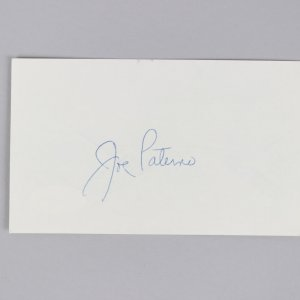 NCAA - Penn State - Joe Paterno Signed 3x5 Index Card - COA JSA
