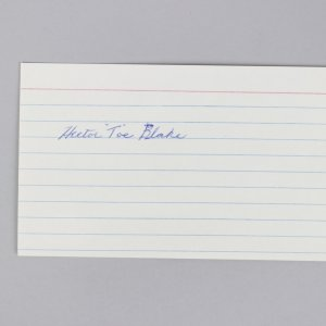 """Montreal Canadiens - Hector """"Toe"""" Blake Signed 3x5 Index Card - COA JSA"""