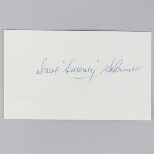 """Toronto Maple Leafs- Dave """"Sweeney"""" Schriner Signed 3x5 Index Card- COA JSA"""