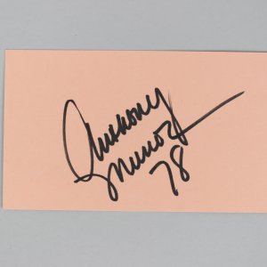 Cincinnati Bengals- Anthony Munoz Signed & Inscribed 3x5 Index Card - COA JSA