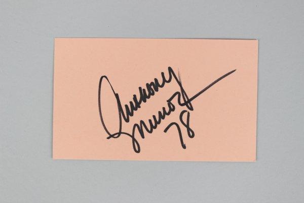 Cincinnati Bengals- Anthony Munoz Signed & Inscribed 3x5 Index Card - COA JSA