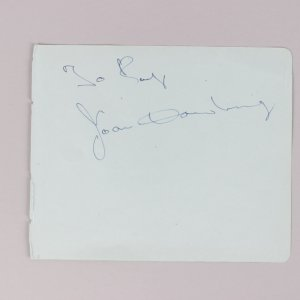 Actors - Joan Dowling & Peter Ustinov Signed 5x6 Vintage Cut - COA JSA