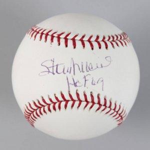 "St Louis Cardinals - Stan Musial Signed & Inscribed ""HOF 69"" OML Baseball - COA MLB"