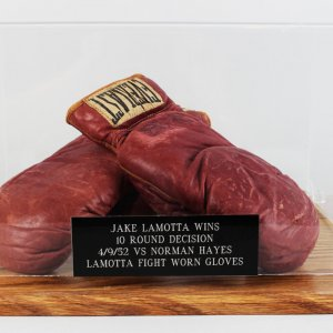 "Jake ""Raging Bull"" LaMotta Fight-Worn Gloves (w/LOA)"