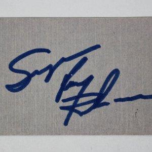 Boxing HOF'er - Sugar Ray Robinson Signed Business Card - JSA