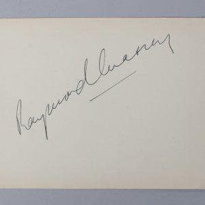 Abe Lincoln in Illinois - Raymond Massey Signed 5x6 Vintage Cut - COA JSA