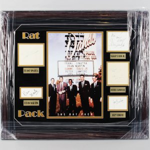 Entire Rat Pack Signed Autograph Album Pages-Display Sinatra, Martin