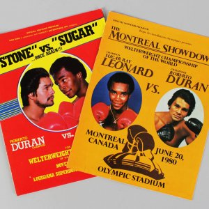 1980 Boxing - Sugar Ray Leonard vs. Roberto Duran Lot (2) Fight Programs