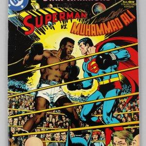 Comic Artist - Neal Adams Signed Superman vs. Muhammad Ali DC Comic Book - JSA Full LOA