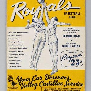NBA - 1948-49 Rochester Royals Program