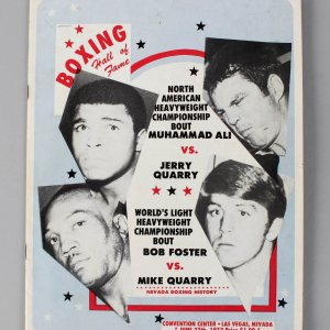 Boxing - June 27, 1972 - Muhammad Ali vs. Jerry Quarry Fight Program