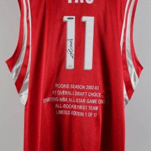 Rockets - Yao Ming Signed LE 10/11 Jersey & 2002-03 Bowman Signed RC Card 467/999 - (UDA & Beckett Slab)