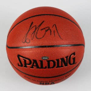 Houston Rockets - Yao Ming Signed Basketball (Mounted Memories)