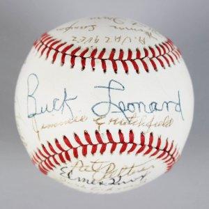 Negro Leagues All-Stars Multi-Signed ONL Baseball Ball - PSA/DNA