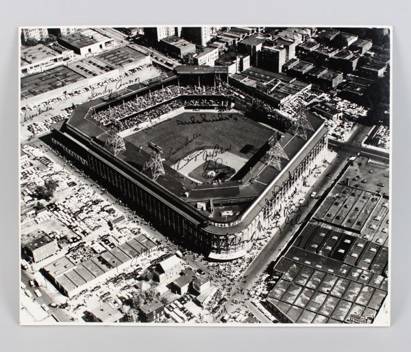 Brooklyn Dodgers Ebbets Field Signed 16x20 Photo - Sandy Amoros, Cal Abrams, Duke Snider & Others - JSA