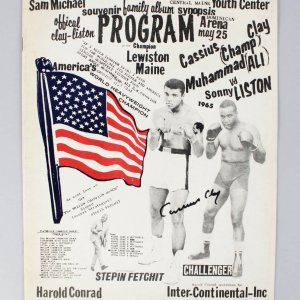 May 25, 1965- Muhammad Ali Signed Cassius Clay Official Clay-Liston Program - JSA Full LOA