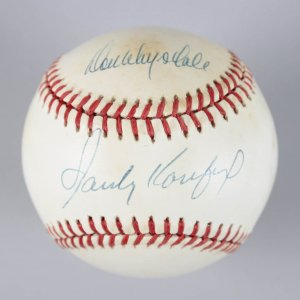 Brooklyn Dodgers - Sandy Koufax & Don Drysdale Signed ONL Baseball - JSA