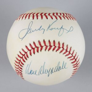 Brooklyn Dodgers - Sandy Koufax & Don Drysdale Signed ONL Baseball - JSA