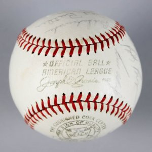 1964 Milwaukee Braves Team-Signed Ball (w/Aaron, Spahn, Torre) - PSA/DNA