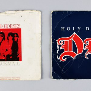 Jimmy Bain Signed Blackmail & Holy Diver 45 Records - Provenance Letter