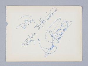 Olivia de Havilland & Joan Fontaine Signed 5x6 Vintage Album Page- COA JSA