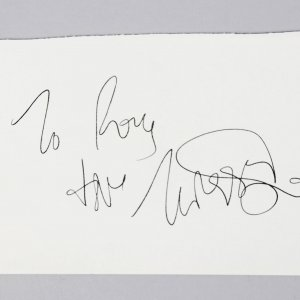 America's Next Top Model- Twiggy Signed 4x6 Vintage Album Page - COA JSA