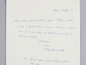 Muhammad Ali Handwritten & Signed On Ali Farms Letter Head