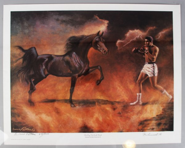 Muhammad Ali Limited Signed Ernie Patton Limited Edition Color Litho - JSA
