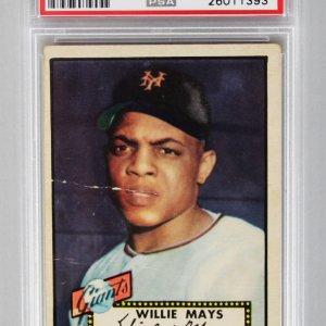 1952 Topps - NY Giants- Willie Mays Baseball RC Card - PSA Graded PR 1