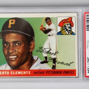 1955 Topps Pittsburgh Pirates - Roberto Clemente Baseball RC Card - PSA Graded VG-EX 4 (MC)