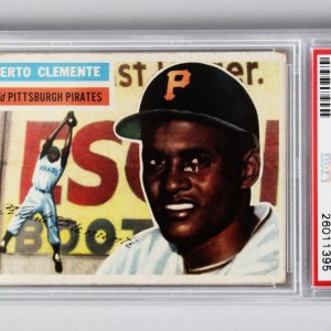 1956 Topps Pittsburgh Pirates Roberto Clemente Baseball Card - (Gray Back) PSA Graded GD +2.5