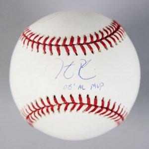 Red Sox- Dustin Pedroia Signed & Inscribed OML Baseball - COA Steiner & MLB