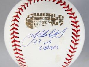 Red Sox- Josh Beckett Signed 2007 World Series Official Baseball - Steiner
