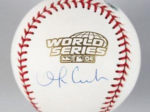Boston Red Sox - Orlando Cabrera Signed 2004 WS Baseball - COA MLB