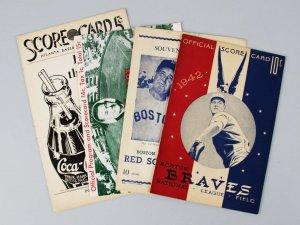 1939, 1942, 1949 & 1958 Baseball Score Card & Program Lot (4)