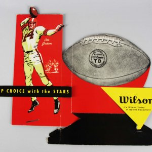 1950's Otto Graham Wilson's Cardboard Die-Cut Countertop Advertising Display