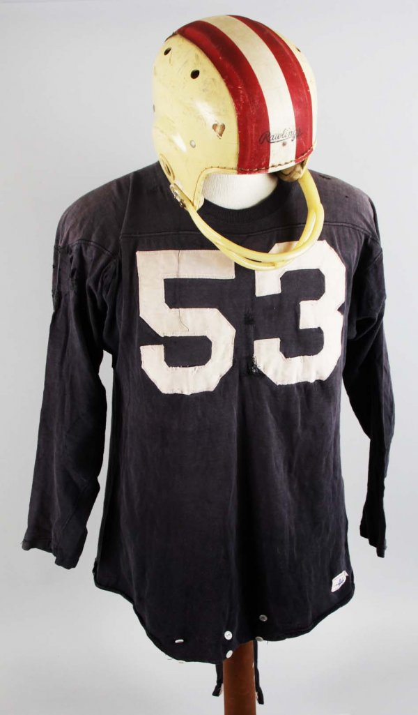 Late 1950's Game-Worn Helmet and Jersey