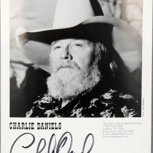 Country Star - Charlie Daniels Signed 8x10 Photo - JSA