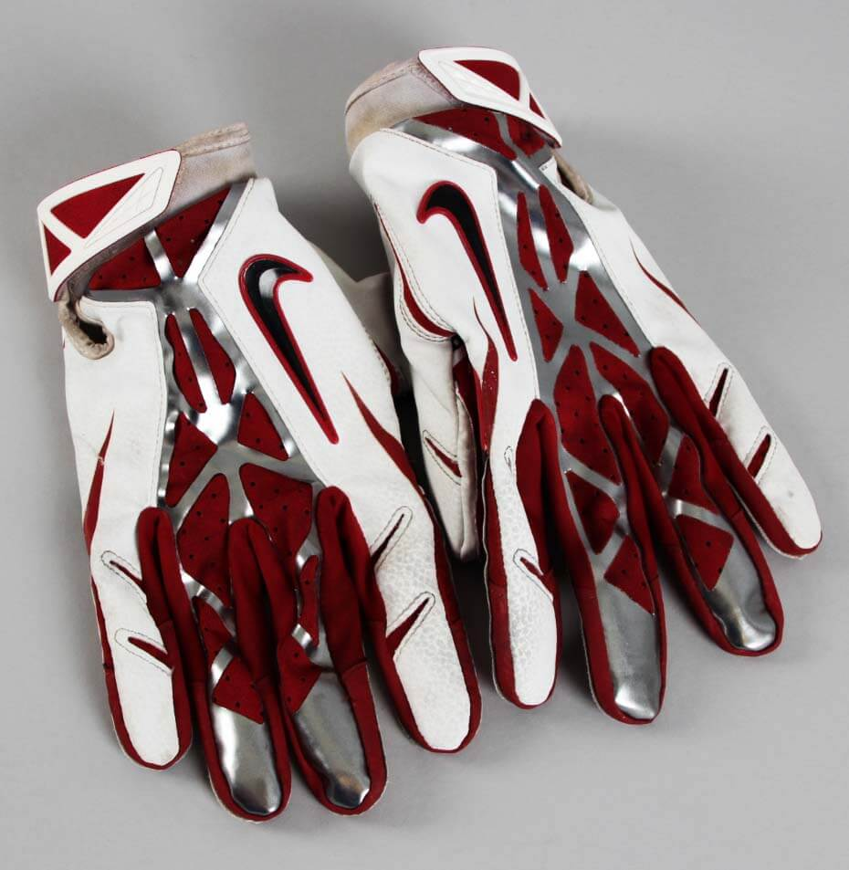 Arizona Cardinals Larry Fitzgerald Game Worn Used Gloves Memorabilia Expert