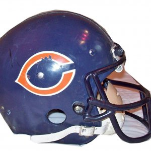 walter payton game worn used helmet